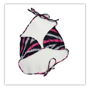 💥5/$25 OP Zebra Stripe Triangle Bikini Top